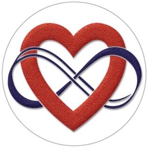 Polyamorie logo stickers