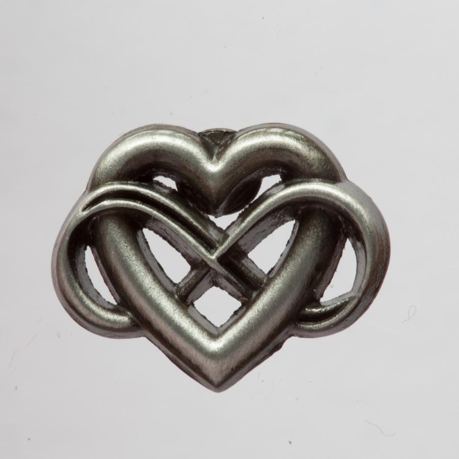 polyamorie logo sieraad speldje