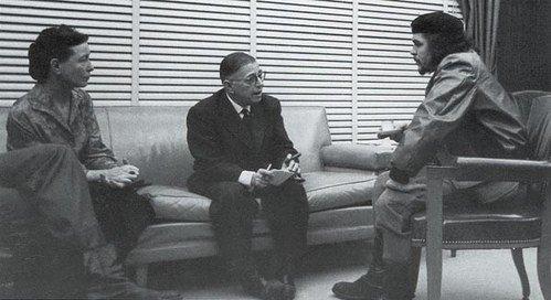 Sartre, de Beauvoir en Che Guevara
