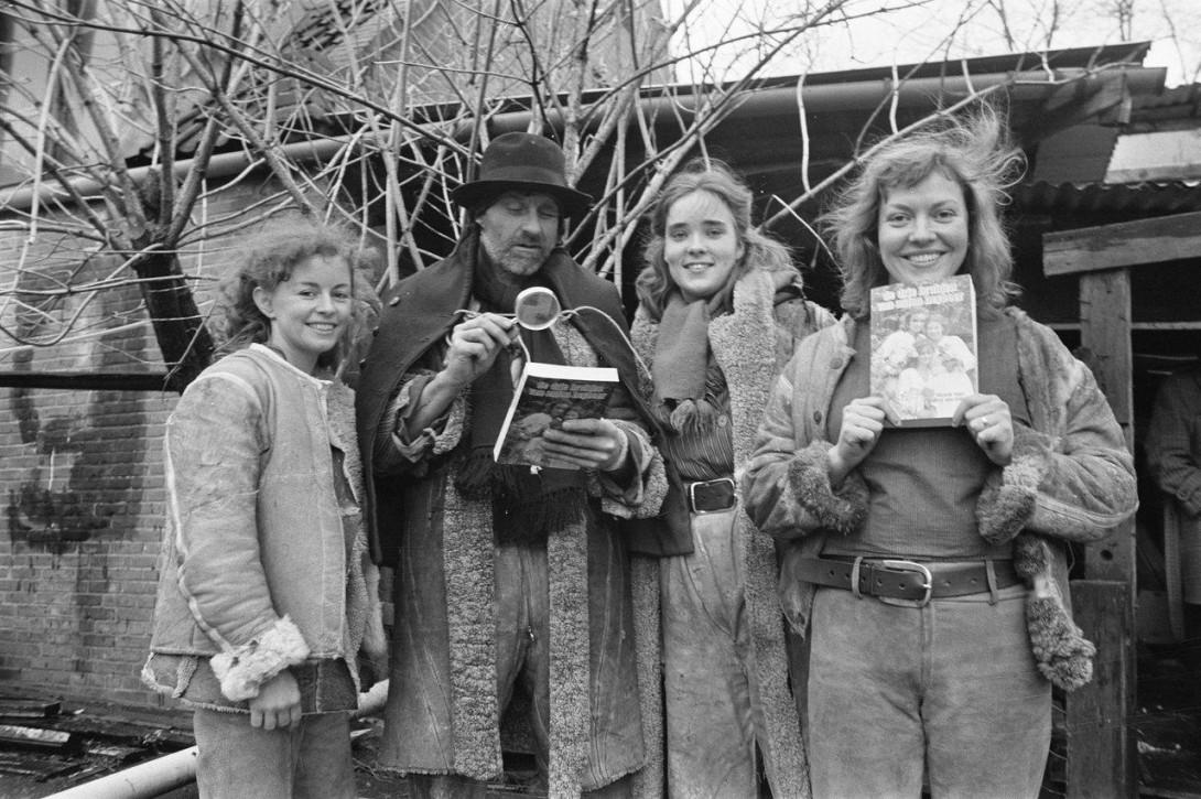 Anton met Marike, Lotte en Maria