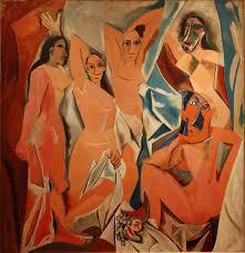 Les-Demoiselles-dAvigon. door Picasso