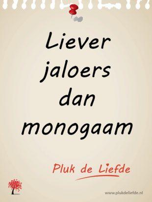 Plukje - Liever jaloers dan monogaam