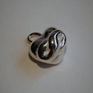 Sterling zilveren hanger bol rond oneindigheidshart