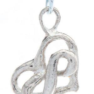 Sterling zilveren hangertje met oneindigheidshartje