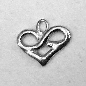 Sterling zilveren hanger met oneindigheidshartje