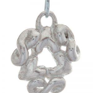 Sterling zilveren hanger met 3 oneindigheidshartjes