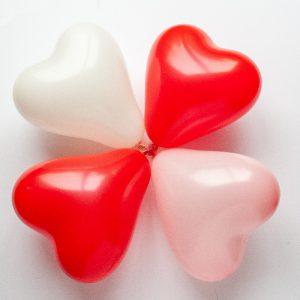 Hartvormige ballonnen - 3 kleuren
