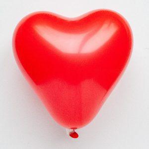 Hartvormige ballonnen - rood