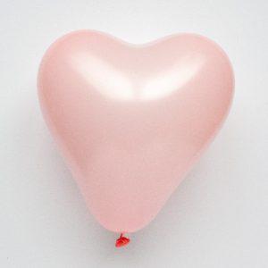 Hartvormige ballonnen - roze