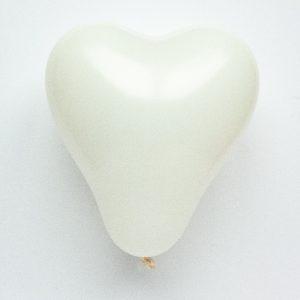 Hartvormige ballonnen - wit